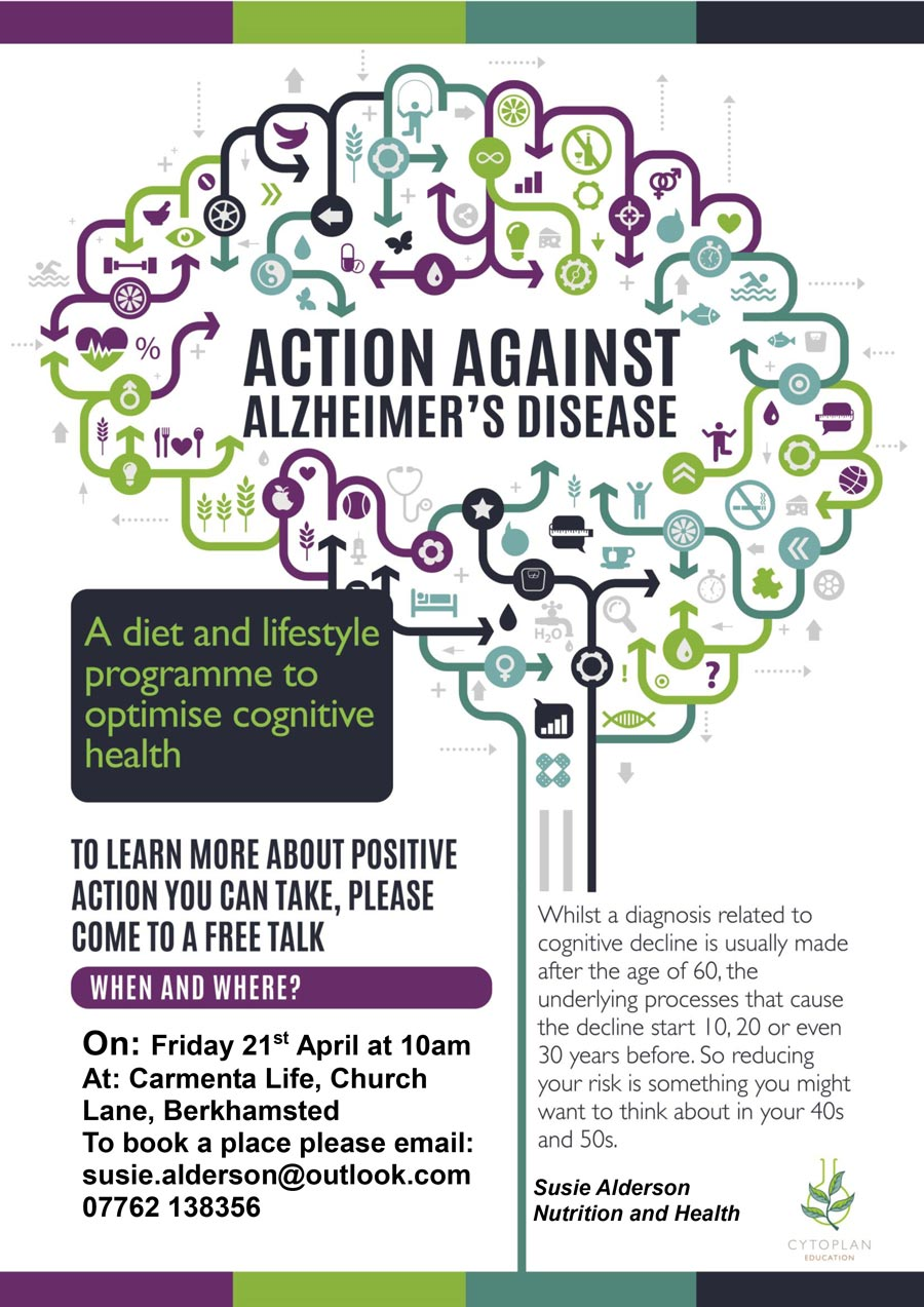 Free Action Against Alzheimer talk poster